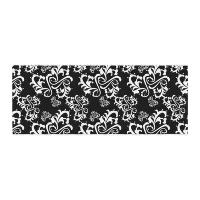 Mydeas Sweetheart Damask Pattern Bed Runner Color: Black/White