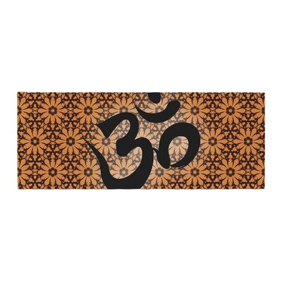 Om Bed Runner Color: Orange