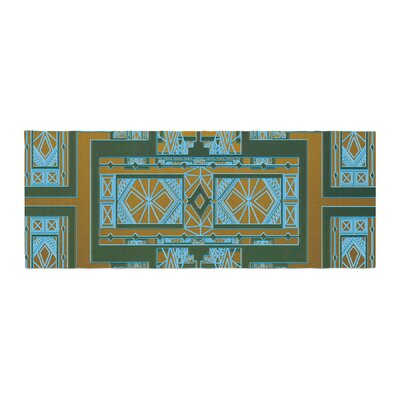 Nika Martinez Art Deco Bed Runner Color: Green/Blue