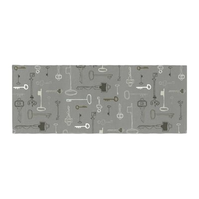 Laurie Baars Keys Bed Runner Color: Gray/Gray