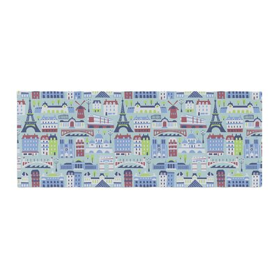 Allison Beilke JAdore Paris France Pattern Bed Runner