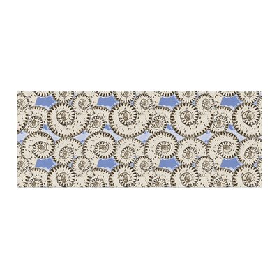 Mydeas Nautical Breeze - Spiral Seashells Vector Bed Runner