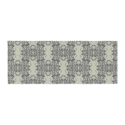 Mydeas Illusion Damask Monochrome Bed Runner Color: Silver/Gray