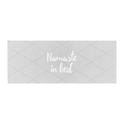 Namaste in Bed Bed Runner Color: Gray