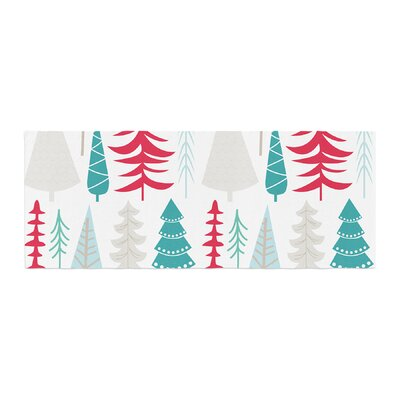 Happy Forest Bed Runner Color: Red/Blue