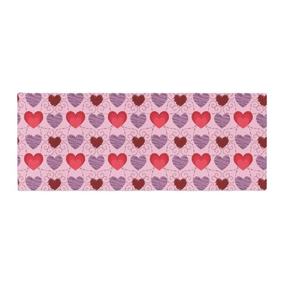 Mydeas Fancy Scribbled Hearts Pattern Vector Bed Runner