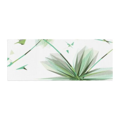 Alison Coxon Flower Aubergine Bed Runner Color: Teal