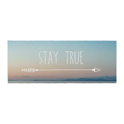 Ann Barnes Stay True Coastal Typography Bed Runner