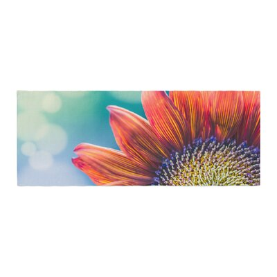 Ann Barnes Fire and Ice Flower Bokeh Bed Runner