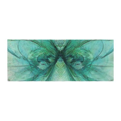 Alison Coxon Butterfly Bed Runner Color: Blue/Green