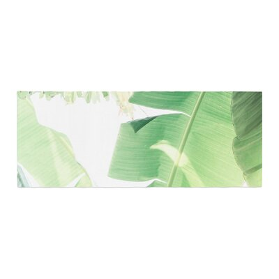 Ann Barnes Banana Leaf I Bed Runner