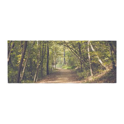 Ann Barnes Forest Light Nature Photography Trees Bed Runner