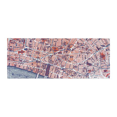 Alison Coxon City of London Map Bed Runner