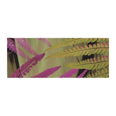 Alison Coxon Forest Fern Plant Bed Runner Color: Mauve/Pink