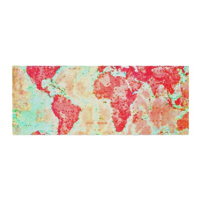 Alison Coxon Oh the Places Well Go World Map Bed Runner
