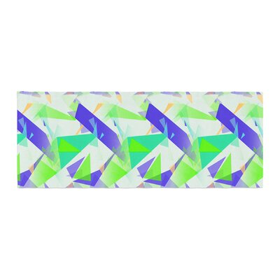 Alison Coxon Confetti Triangles Bed Runner Color: Green/Teal