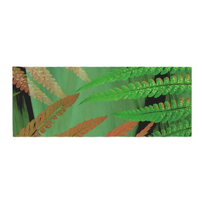 Alison Coxon Forest Fern Plant Bed Runner Color: Brown