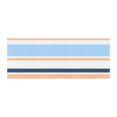 Alison Coxon Jack Tar Bed Runner Color: Blue/Orange