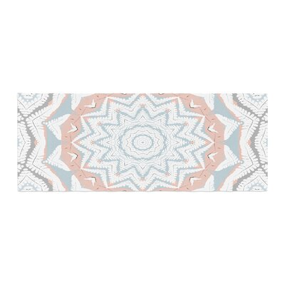 Alison Coxon Plant House Mandala Digital Bed Runner Color: Coral/Blue