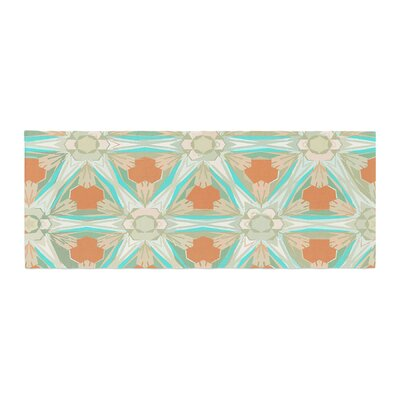 Alison Coxon Moorish Earth Bed Runner Color: Teal/White