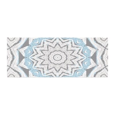 Alison Coxon Plant House Mandala Digital Bed Runner Color: Blue /Beige