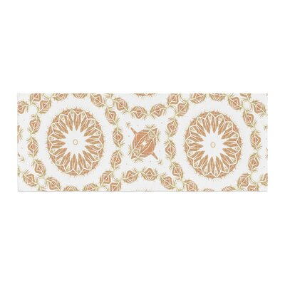 Alison Coxon Citrine Mandala Tile Digital Bed Runner