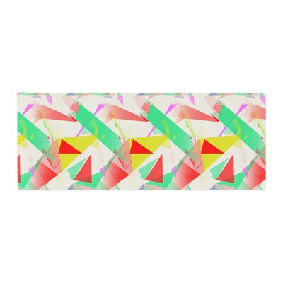 Alison Coxon Confetti Triangles Bed Runner Color: Red/Green