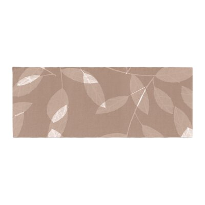 Alison Coxon Leaf Olive Bed Runner Color: Brown