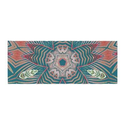 Alison Coxon Kintenge Deep Bed Runner Color: Teal/Coral