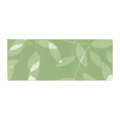 Alison Coxon Leaf Olive Bed Runner Color: Green