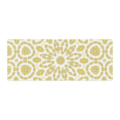 Alison Coxon Flaxen Mandala Digital Bed Runner