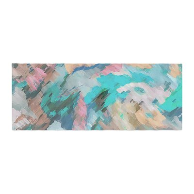 Alison Coxon Giverny Abstract Pattern Bed Runner Color: Blue