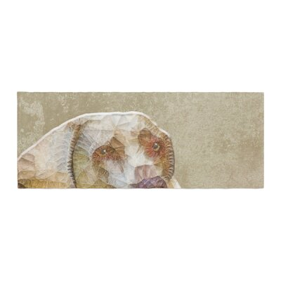 Ancello Abstract Dog Geometric Bed Runner