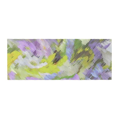 Alison Coxon Giverny Abstract Pattern Bed Runner Color: Lilac/Yellow