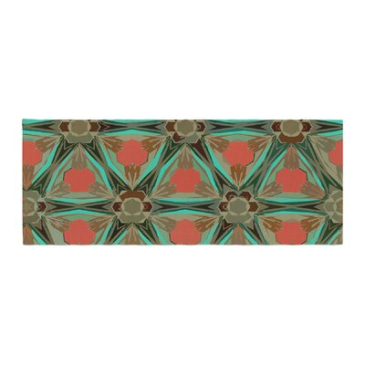 Alison Coxon Moorish Earth Bed Runner Color: Teal/Orange