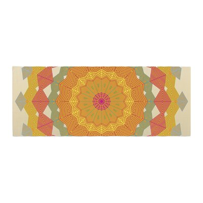 Angelo Cerantola Composition Bed Runner Color: Orange