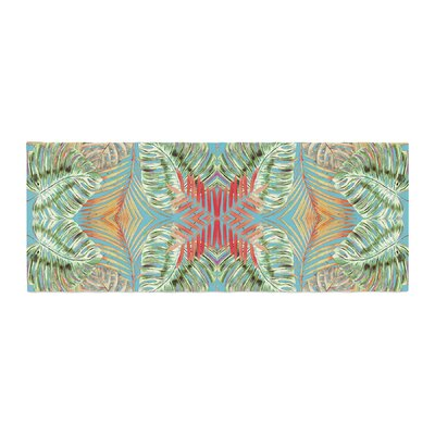 Alison Coxon Summer Jungle Love Bed Runner Color: Aqua/Blue