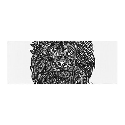 Adriana De Leon The Leon Lion Illustration Bed Runner