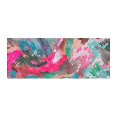 Alison Coxon Giverny Abstract Pattern Bed Runner Color: Pink/Teal/Peach