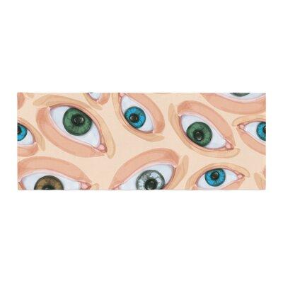 Alisa Drukman Eyes Eyeballs Bed Runner