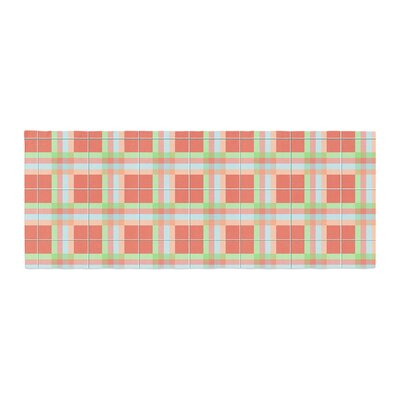 Afe Images Summer Plaid Pattern Bed Runner