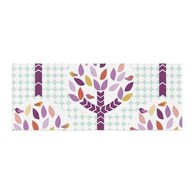 Pellerina Design Orchid Spring Tree Abstract Bed Runner