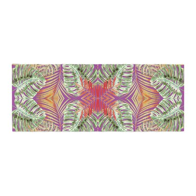 Alison Coxon Summer Jungle Love Bed Runner Color: Purple/Green