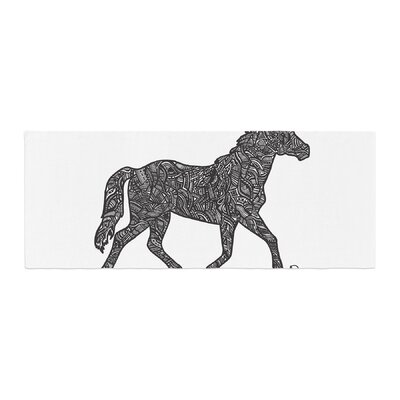Adriana De Leon Horsie Horse Illustration Bed Runner