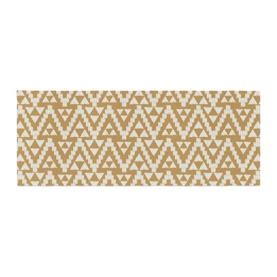 Amanda Lane Geo Tribal Aztec Bed Runner Color: Yellow