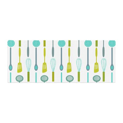 Afe Images Kitchen Utensils Illustration Bed Runner