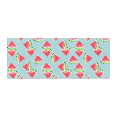 Afe Images Watermelon Slices Pattern Illustration Bed Runner