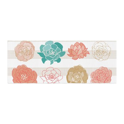 Pellerina Design Flower Square Floral Bed Runner