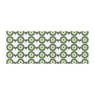 Afe Images Retro Circles Illustration Bed Runner