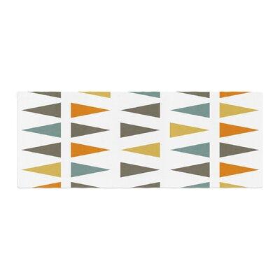 Pellerina Design Stacked Geo Triangles Bed Runner